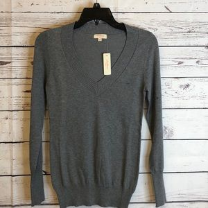 Ambiance gray v-neck pullover sweater